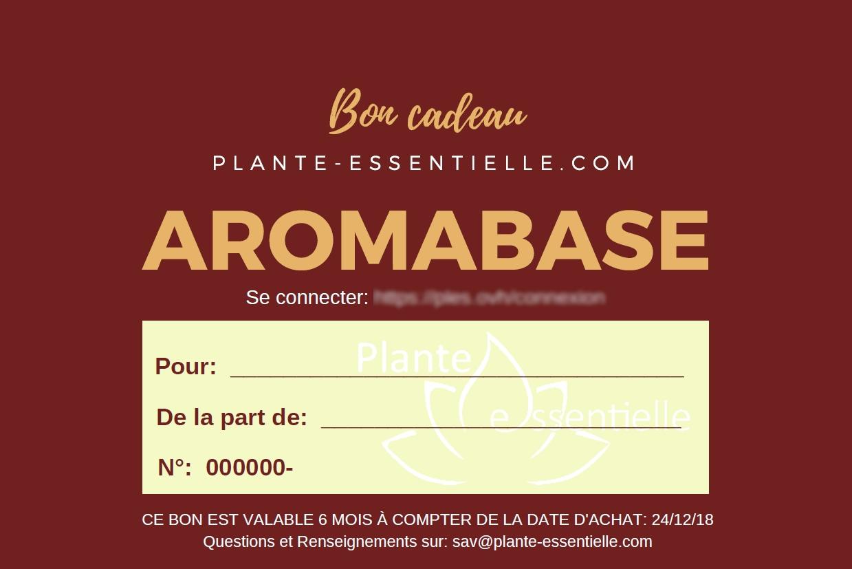 Bon cadeau programme aromathérapie